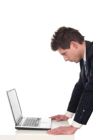 Businessman using laptop Stock Photo - 667666