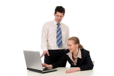Negocios personas trabajando en la computadora portátil  Foto de archivo - 732417