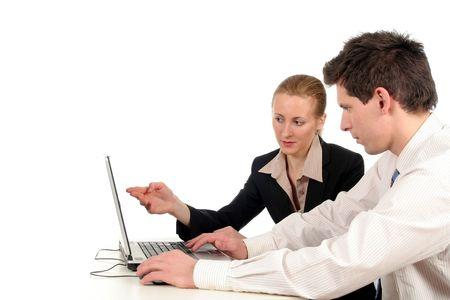 Negocios personas trabajando en la computadora portátil  Foto de archivo - 732420