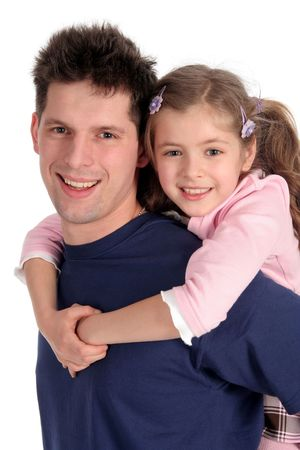 kids hugging: Father and Daughter