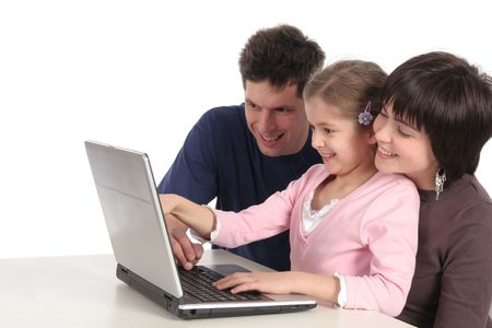 Family Using Laptop Stock Photo - 808373
