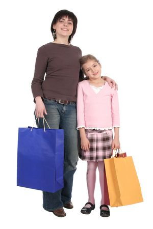 Mother and Daughter Shopping photo