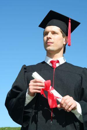 Male student graduating Stock Photo - 872564