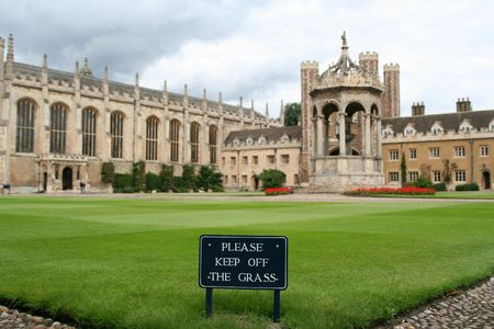 Cambridge University, England, Trinity College Фото со стока - 1192690