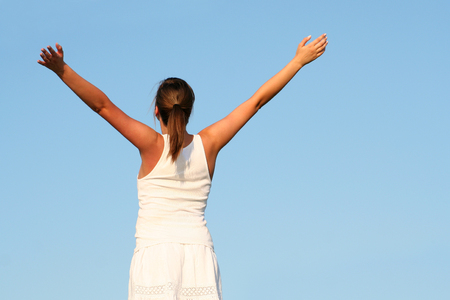Woman with arms outstretched Stock Photo - 1490089