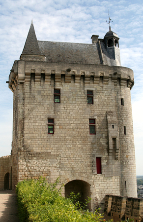 clock tower: Chinon castle, France (clock tower)