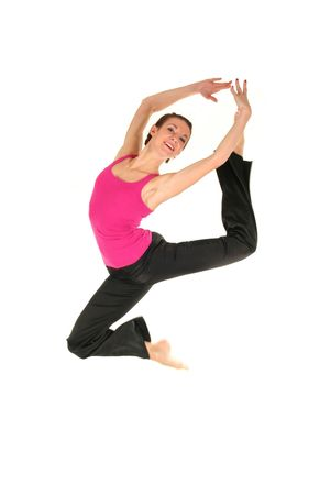 Female dancer jumping Stock Photo - 1952571