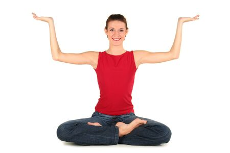 Woman in yoga position Stock Photo - 1960490