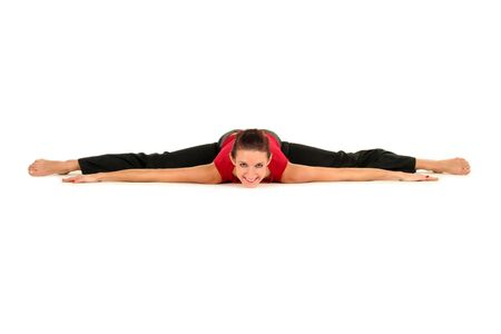 contortionist: Woman doing a split