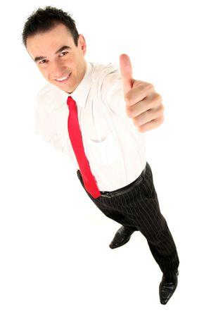 pulgar levantado: Hombre de negocios con el pulgar arriba