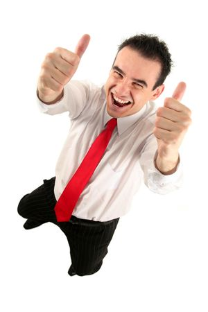 Businessman With Thumbs Up photo