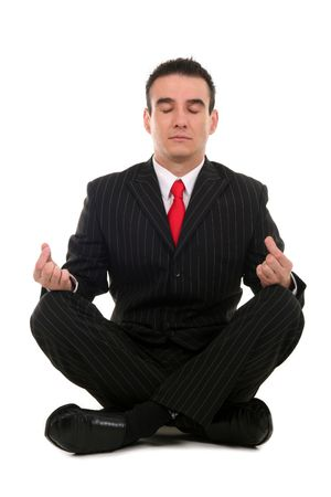 Businessman sitting in lotus position  Stock Photo - 2038977