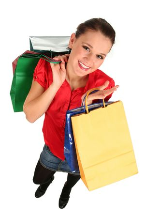 Girl with shopping bags photo