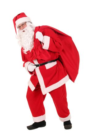 Santa carrying his sack photo