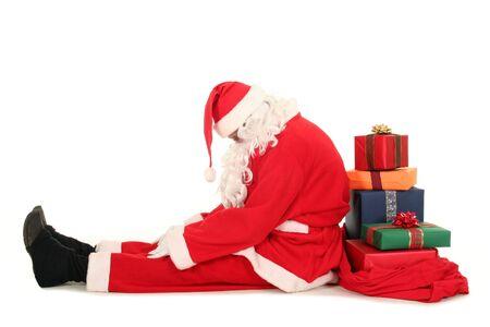 weihnachtsmann lustig: M�de Santa Claus  Lizenzfreie Bilder