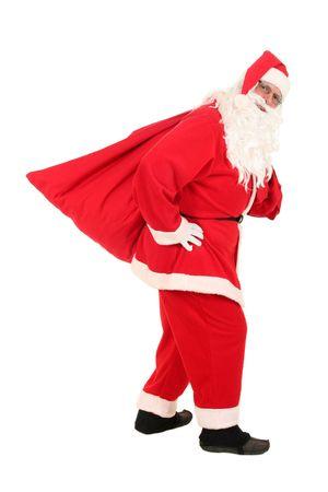 Santa carrying his sack photo