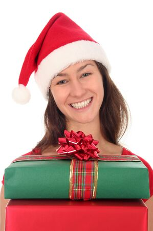 Woman with Christmas Gifts photo