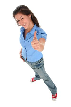 Girl With Thumb Up Stock Photo - 2245684
