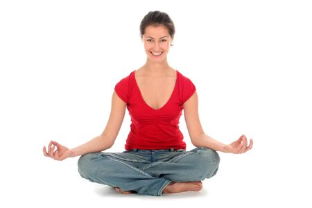 Woman Seated in Yoga Pose  photo