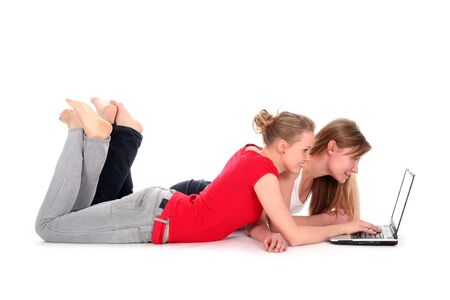 Young women using laptop Stock Photo - 2412494