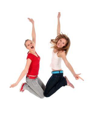 Women jumping for joy Stock Photo - 2412489