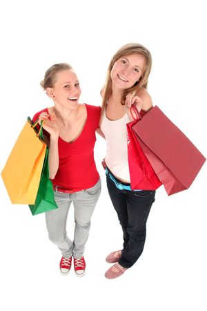 Girls with shopping bags Stock Photo - 2414835