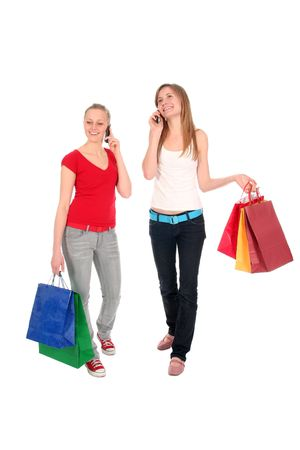 Young women with shopping bags Stock Photo - 2428250