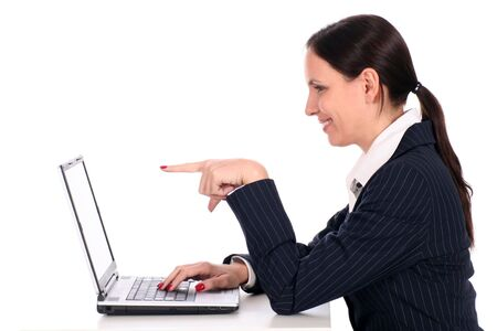 Woman using laptop Stock Photo - 2531109