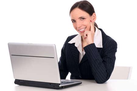 Businesswoman using laptop Stock Photo - 2617002