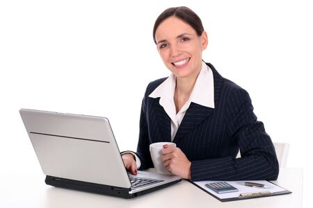 Businesswoman using laptop Stock Photo - 2617005