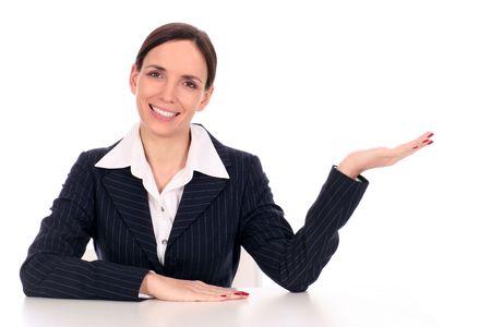 Businesswoman sitting at desk Stock Photo - 2617004
