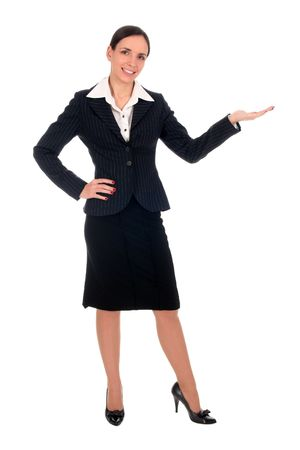 Businesswoman introducing something Stock Photo - 2617001