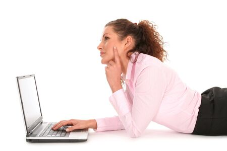 Woman with laptop Stock Photo - 2646392