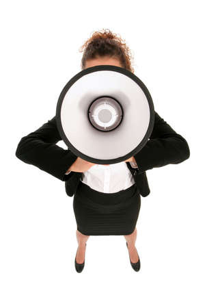 Businesswoman with Megaphone Stock Photo - 2646370