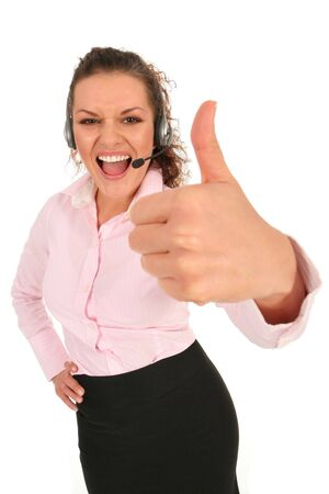 Businesswoman With Thumb Up Stock Photo - 2654487