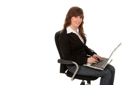 Woman using laptop Stock Photo - 2672657