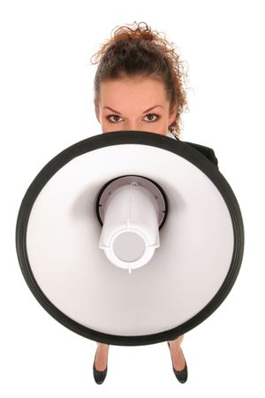 Businesswoman with Megaphone Stock Photo - 2684650
