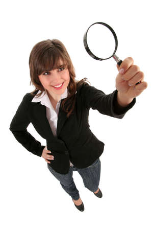 blowup: Woman Holding Magnifying Glass