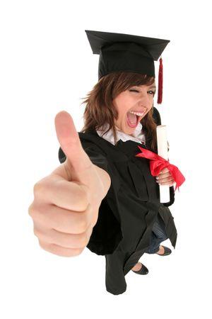 licenciado: El graduar femenino del estudiante