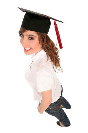 Female student graduating photo