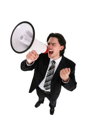 Businessman with Megaphone Stock Photo - 2827760