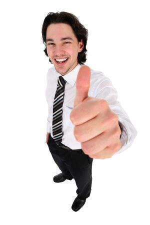 Businessman With Thumb Up photo