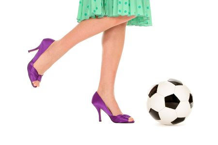 Soccer Ball and Women�s Legs Stock Photo - 2994602