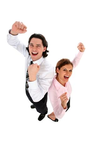 Business People Cheering photo