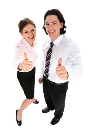 Business People With Thumbs Up photo