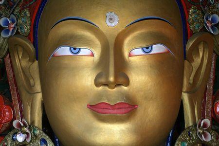 Buddha statue, Ladakh, India photo