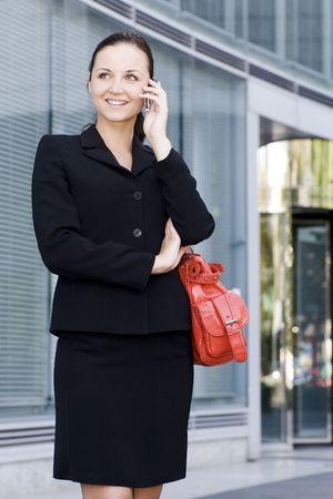 Businesswoman with mobile phone Stock Photo - 3463587