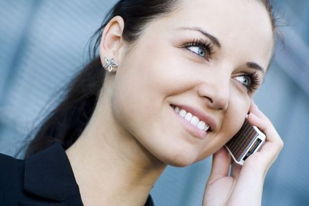 Businesswoman with mobile phone Stock Photo - 3463586