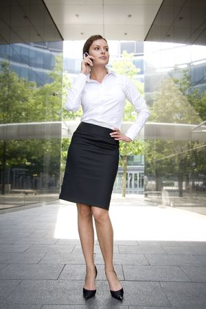 Businesswoman outside a modern building Stock Photo - 3526248