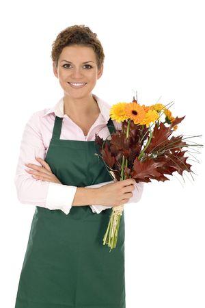 deliverer: Florist holding flowers